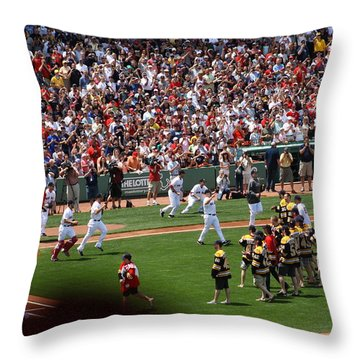 Champions Congratulating Champions Throw Pillow by Greg DeBeck