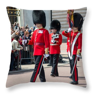 Changing Of The Guard At Buckingham Palace Throw Pillow