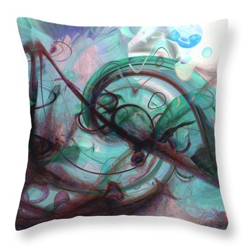 Chaos Throw Pillow by Linda Sannuti