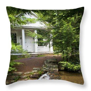 Chapel At Hickory Run State Park Throw Pillow