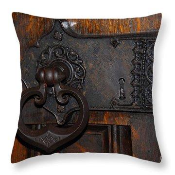 Chapel Door Throw Pillow by Cindy Manero