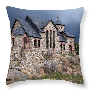 Chapel On The Rocks No. 1 Throw Pillow by Dorrene BrownButterfield