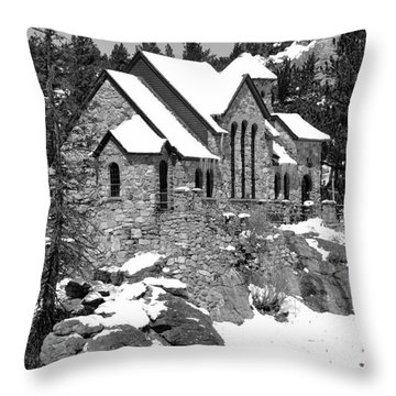 Chapel On The Rocks No. 2 Throw Pillow by Dorrene BrownButterfield
