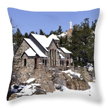 Chapel On The Rocks No. 3 Throw Pillow by Dorrene BrownButterfield
