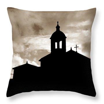 Chapel Silhouette Throw Pillow by Gaspar Avila