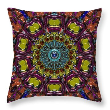 Throw Pillow featuring the digital art Chapel Window by Alec Drake