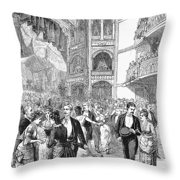 Charity Ball, 1880 Throw Pillow by Granger