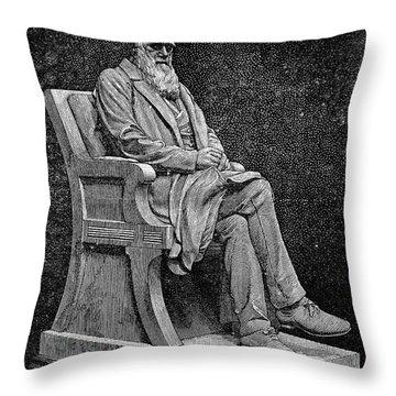 Charles Darwin (1809-1882) Throw Pillow by Granger