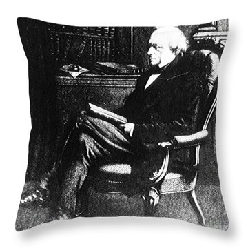 Charles Lyell, English Geologist Throw Pillow by Science Source
