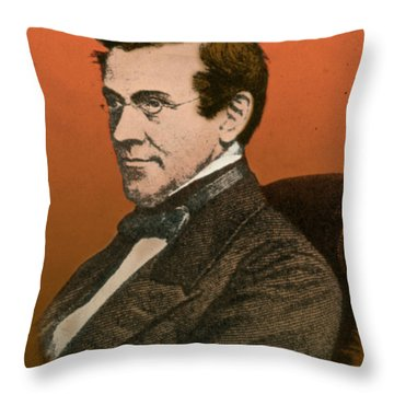 Charles Wheatstone, English Inventor Throw Pillow by Science Source