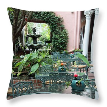 Charleston Dining Throw Pillow by Suzanne Gaff