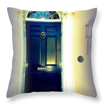 Charleston Door 6 Throw Pillow by Susanne Van Hulst