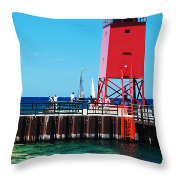 Throw Pillow featuring the photograph Charlevoix Light by Janice Adomeit