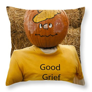 Charlier Brown Halloween Throw Pillow by Darleen Stry