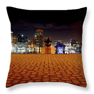 Charm City Skyline Throw Pillow
