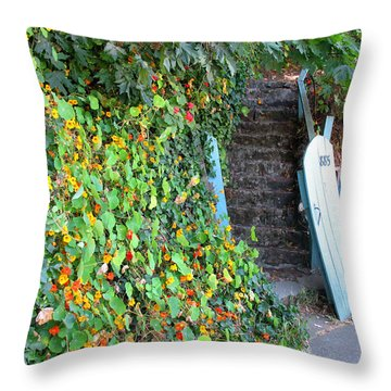 Throw Pillow featuring the photograph Charming Sausalito by Connie Fox