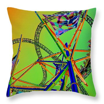 Chasing Prey Throw Pillow by David Lee Thompson
