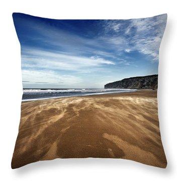 Chasing Sand Throw Pillow by Svetlana Sewell