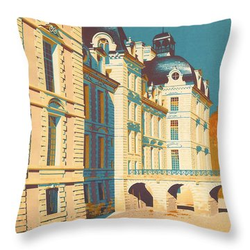 Chateau De Cheverny Throw Pillow by Georgia Fowler