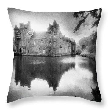 Chateau De Trecesson Throw Pillow by Simon Marsden