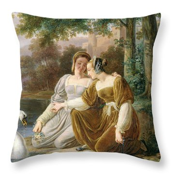 Chatelaines Throw Pillow by Pierre Henri Revoil