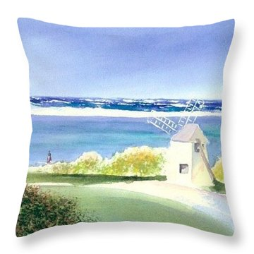 Chatham Harbor July Throw Pillow by Joseph Gallant
