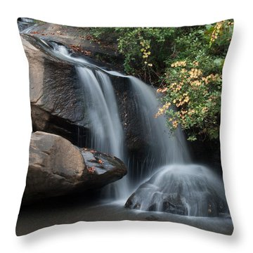 Chau-ram Falls Throw Pillow by Lynne Jenkins