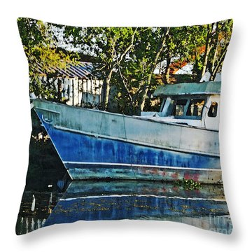 Chauvin La Blue Bayou Boat Throw Pillow