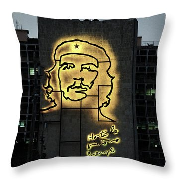 Throw Pillow featuring the photograph Che Guevera II by Gary Dean Mercer Clark