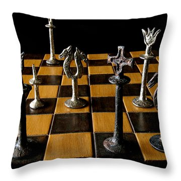 Checkmate Throw Pillow by David Salter
