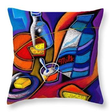 Cheese Throw Pillow by Leon Zernitsky