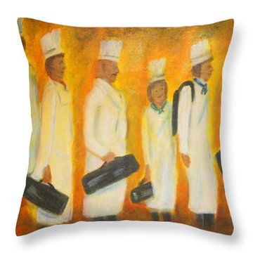 Chef School Throw Pillow