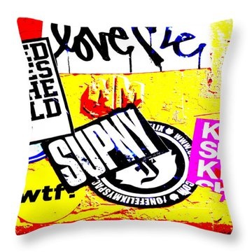 Chelsea Desperate Plea Throw Pillow by Funkpix Photo Hunter