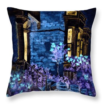 Chelsea Row At Night Throw Pillow