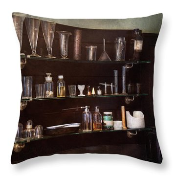 Chemist - The Scientist  Throw Pillow by Mike Savad