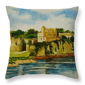 Chepstow Castle  Wales Throw Pillow by Andrew Read