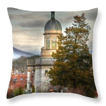 Cherokee County North Carolina Courthouse Throw Pillow