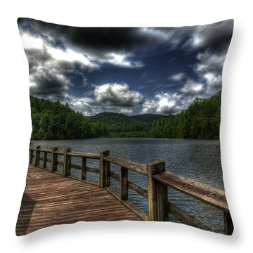 Cherokee Lake Throw Pillow by Greg and Chrystal Mimbs