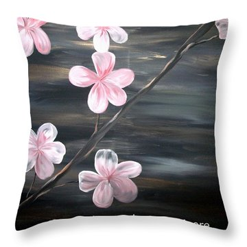 Cherry Blossom By Mark Moore Throw Pillow by Mark Moore