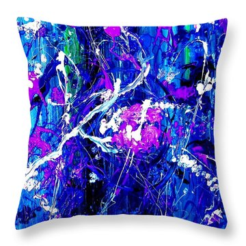 Throw Pillow featuring the painting Cherry Blossom Explosion by Michelle Dallocchio