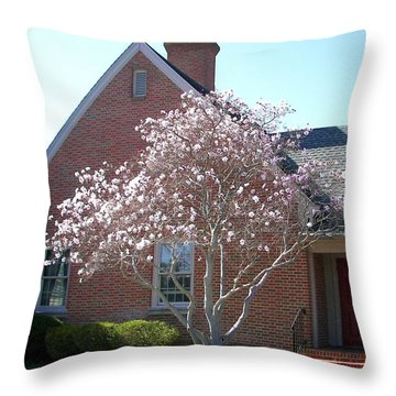 Throw Pillow featuring the photograph Cherry Blossom by Pamela Hyde Wilson