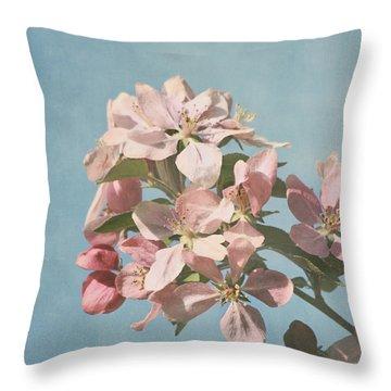 Cherry Blossoms Throw Pillow by Kim Hojnacki
