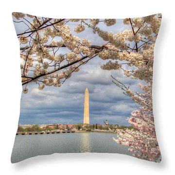 Cherry Blossoms Washington Dc 4 Throw Pillow