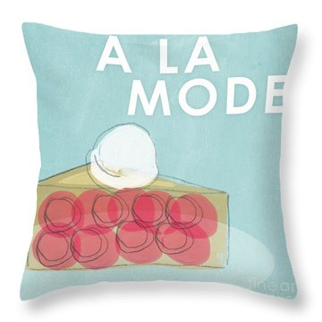 Cherry Pie A La Mode Throw Pillow