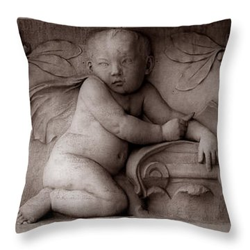 Cherubs 3 Throw Pillow by Andrew Fare