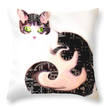 Cheshire Effect Throw Pillow by Ginny Schmidt