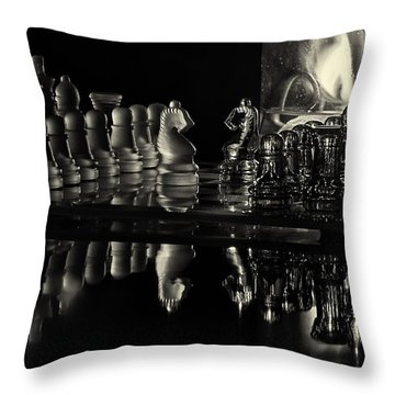 Chess By Candlelight Throw Pillow