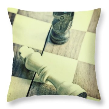 Chess Throw Pillow by Joana Kruse