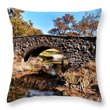 Chester County Bow Bridge Throw Pillow by Bill Cannon