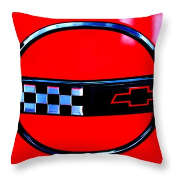 Throw Pillow featuring the digital art Chevrolet Corvette by Tony Cooper